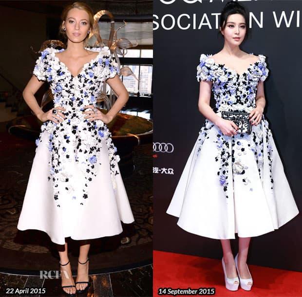 Ista haljina sa par meseci razmaka (foto: redcarpet-fashionawards.com)