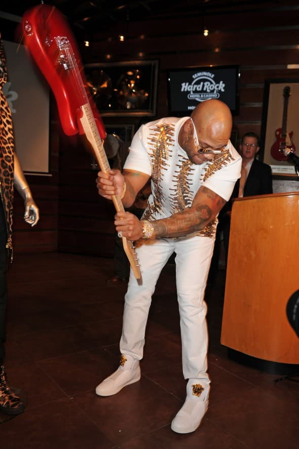 Kada reper postane roker. Flo Rida u Hard Rock Cafeu (foto: WENN)