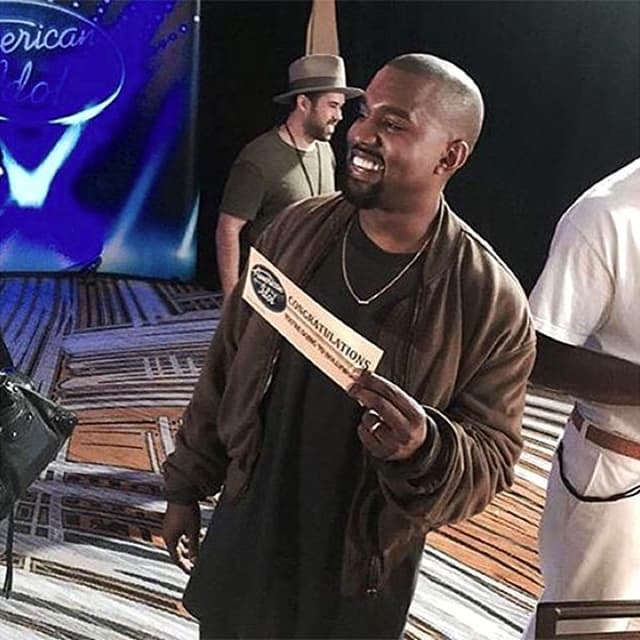 Nasmejani Kanye nakon audicije pred tročlanim žirijem u San Francisku (foto: Instagram)