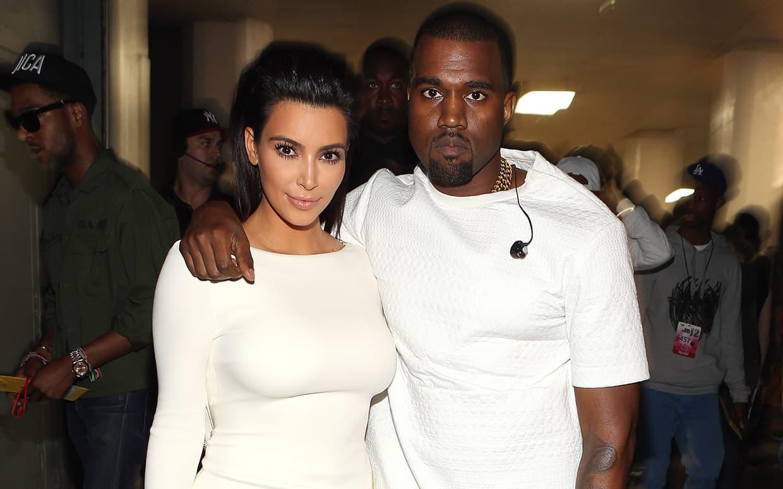 Kim Kardashian with Husband