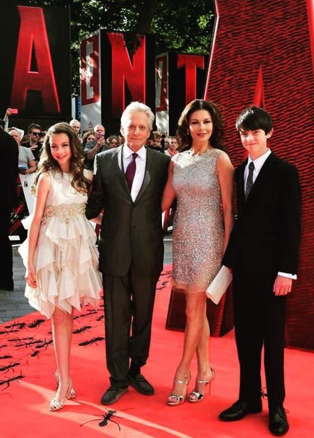 Porodica na nedavnoj premijeri filma Ant-man, koji je Michale uradio, kako priznaje, zbog svoje dece (foto: Instagram)