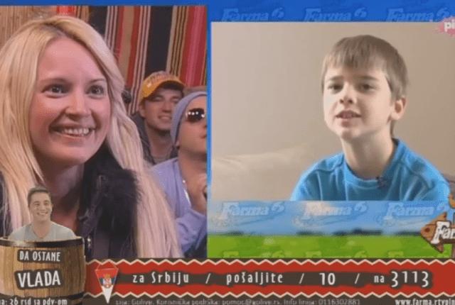 Maja se oduševila jer je čula glas svog sina (foto: TV Pink)