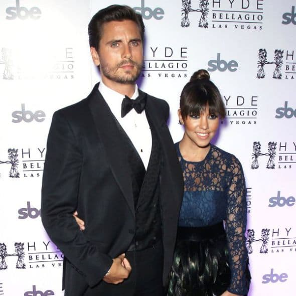 Kourtney Kardashian and Scott Disick-wenn
