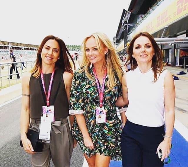 Mel C sa Emmom Bunton i Geri Halliwell nedavno na trci formule 1(foto: Instagram)