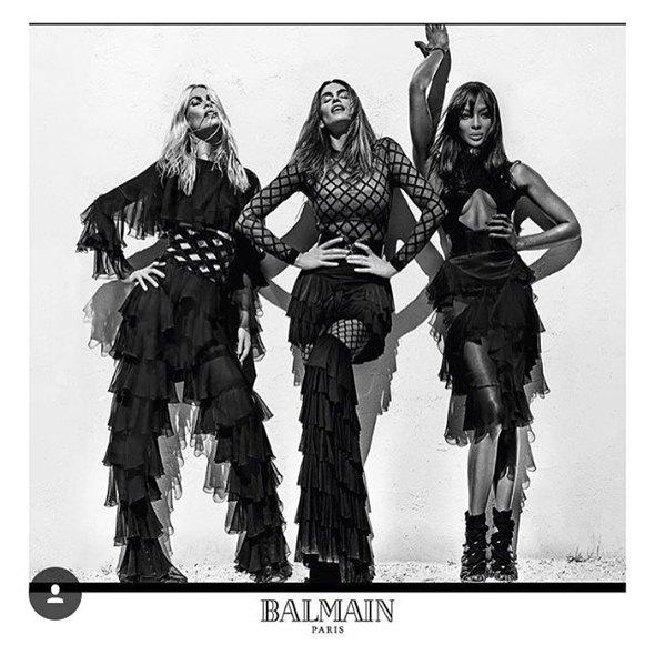 "Naomi, Claudia i Cindy u novoj ""Balmain"" kampanji (foto: Instagram)"