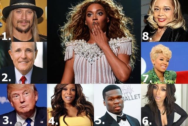 Beyonce i poznati koji je ne podnose (foto: the sass, bet.com, usa today, gonetworth, wikipedia, rightweb, running usa)