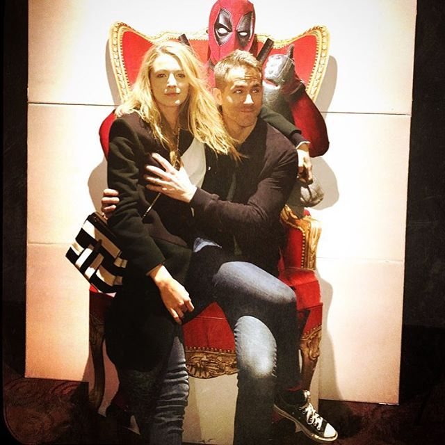 Blake i Ryan su se sjajno zabavljali na posebnoj fotelji koja najavljuje film Deadpool (foto: Instagram)