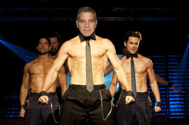 Clooney kaže da bi stripersko ime bilo 'Big George' (foto: E!)