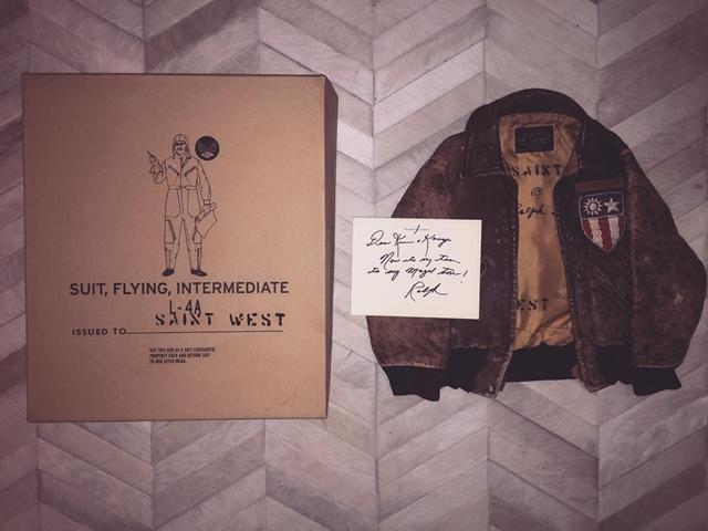 Unikatna jakna koju je Saint dobio od Raplha Laurena lično (foto: Instagram)