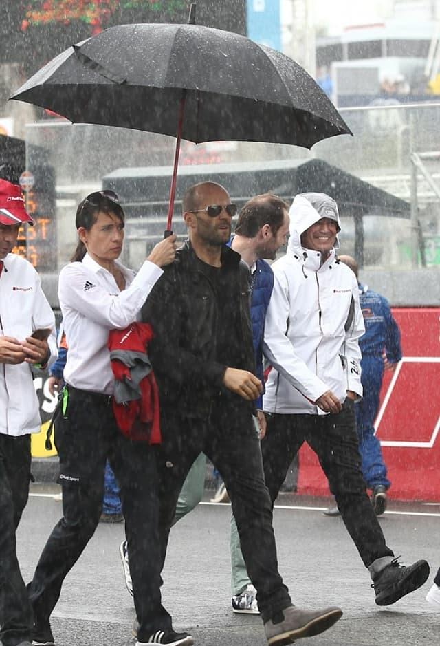 I Jason Statham je posetio trku u Francuskoj (foto: FameFlyNet)