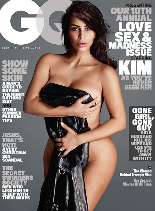 Kim u vrelom editorijalu za GQ pozira ponovo naga (foto: Instagram)