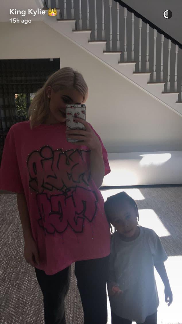 Kylie sa Tyginim sinom King Cairom (foto: Snapchat)