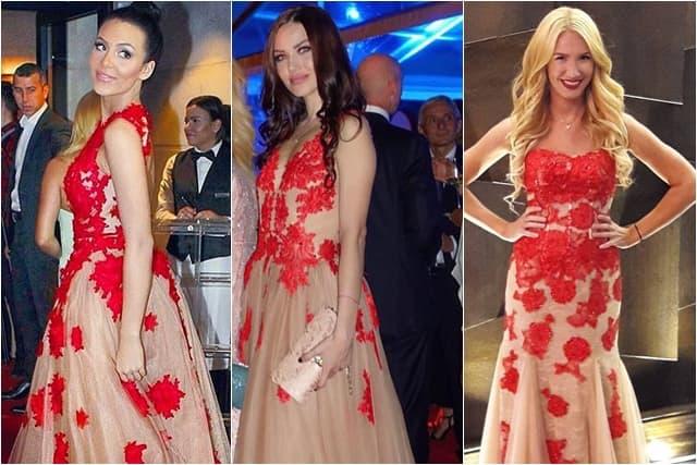Njih tri su se odlučile za skoro identične haljine (foto: Instagram/raznatovicanastasija/tamaranikolicofficial/bokalica