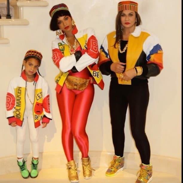 Beyonce, Tina Knowles i Blue Ivy kao članice grupe Salt'n'Pepa (foto: Instagram/Beyonce)