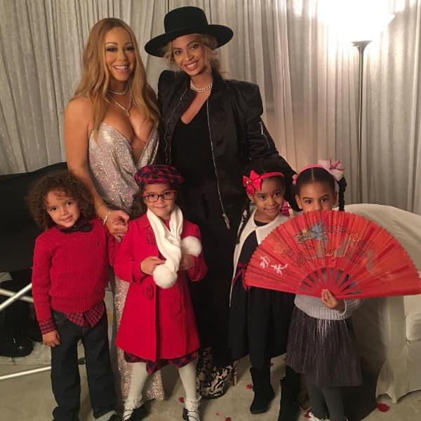 Beyonce i Blue Ivy posetile su Marah Carey i njene blizance pre koncerta u njujorku (foto: Instagram/mariahcarey)