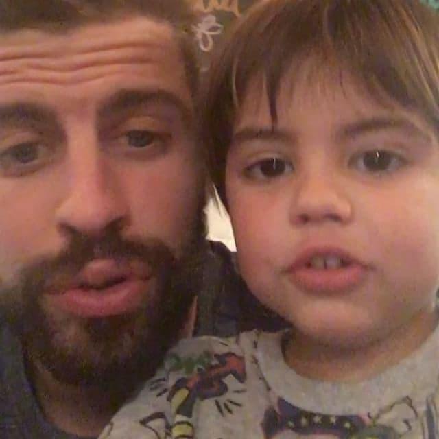 Otac i preslatki sin pevaju zajedno (foto: Instagram.com/3gerardpique)