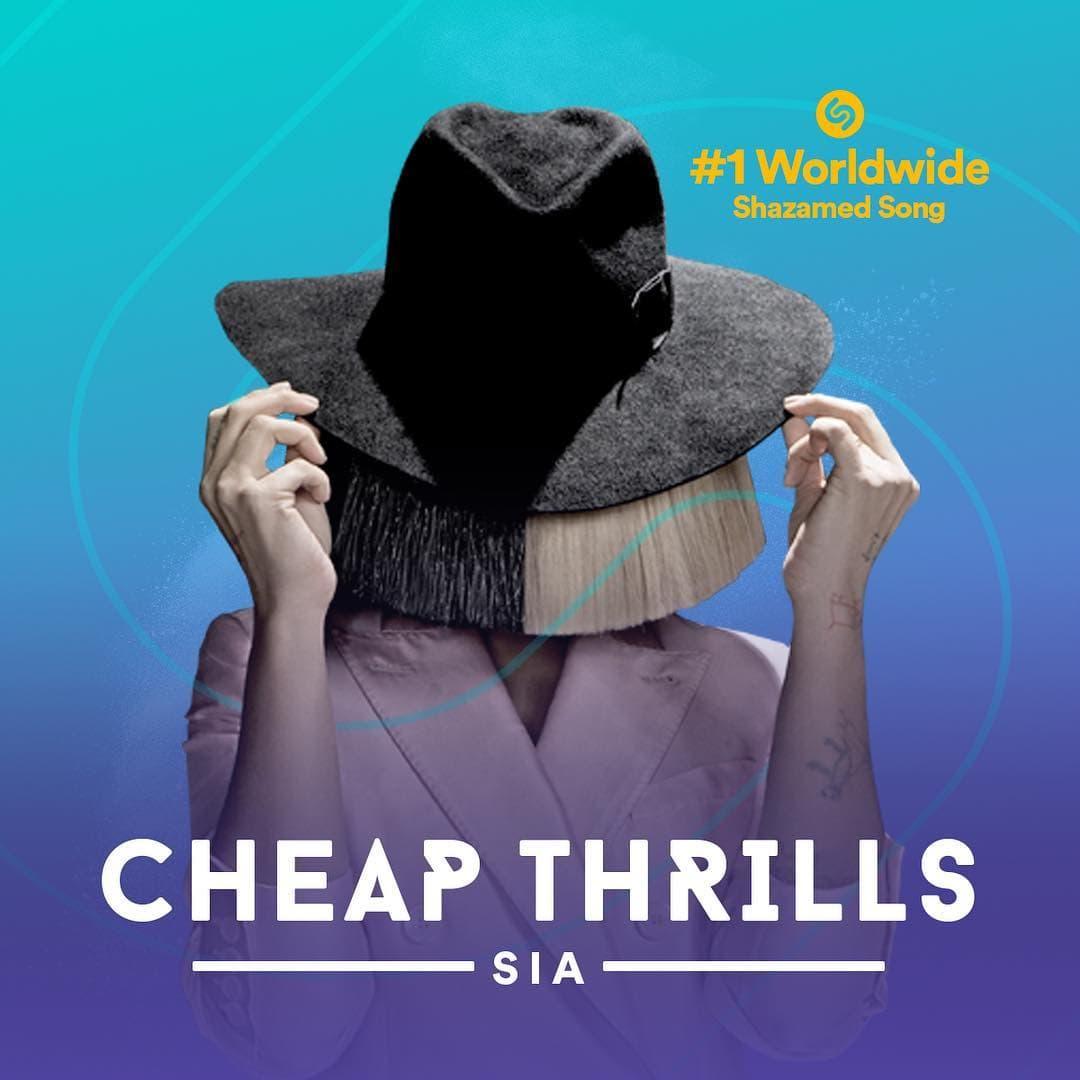 Sijina pesma 'Cheap thrills' najslušanija je u 2016. (foto: Instagram.com/siathisisacting)