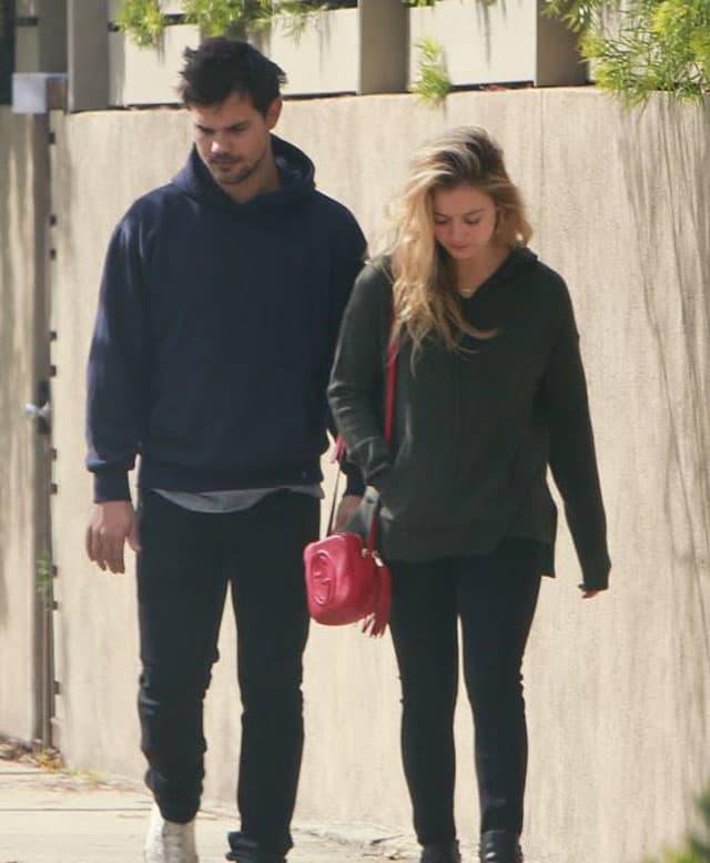 Taylor Lautner i Billie Lourd (foto: Pacific Coast News)