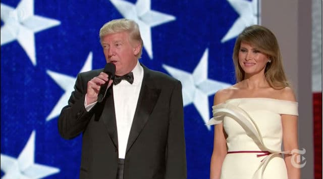 Donald i Melania Trump (foto: Instagram/lasoncini)