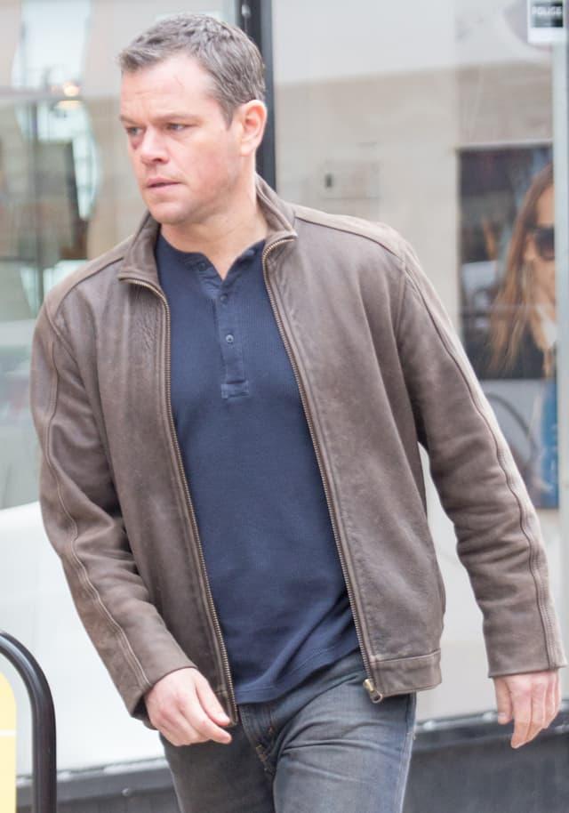 Matt Damon filming scenes for 'Jason Bourne'