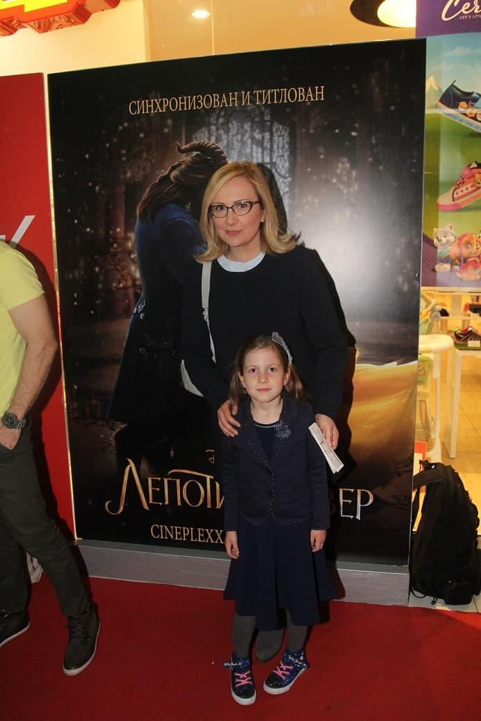 Leontina Vukomanović sa ćerkom