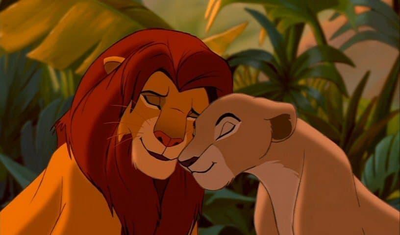 Simba i Nala u originalnoj verziji iz 1994. godine (foto: Screenshot)