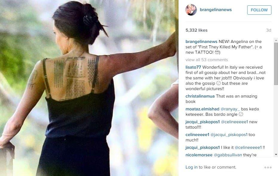 Nove tetovaže na leđima glumice (foto: Screenshot)