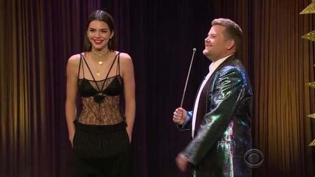 Kendall u emisji komičara Jamesa Cordena (foto: Screenshot)
