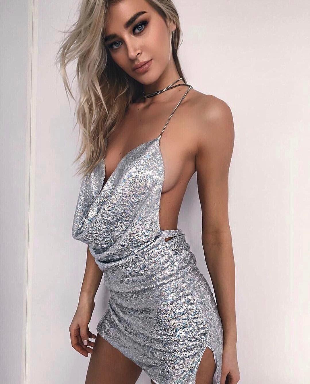 Sofijina haljina je bila malo smernija (foto: Instagram.com/sofijamilo)