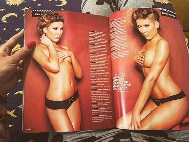 Tijana u jednom muškom časopisu 2012. godine (foto: Instagram.com/ticamaksimovic)