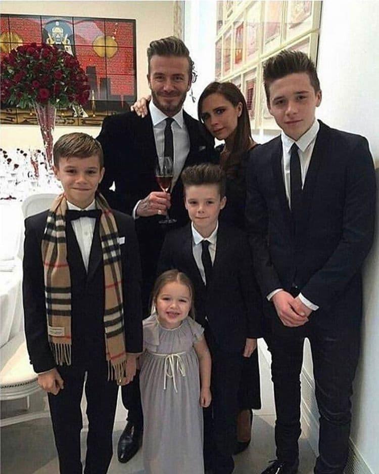 Beckhamovi na okupu (foto: Instagram/vicotriabeckham)