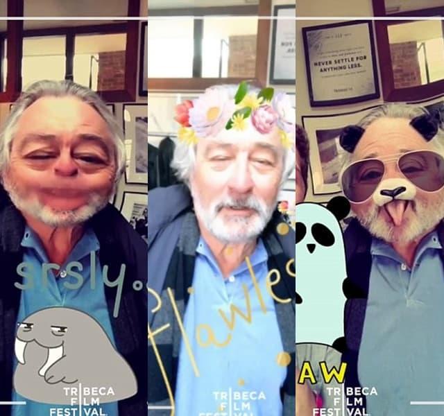 Uvek zanimljivi Robert De Niro (foto: Snapchat)