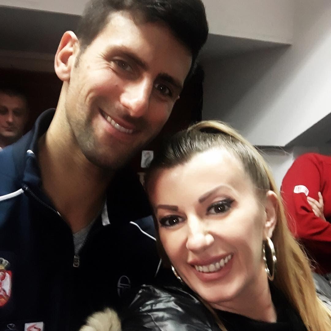 Selfi sa Novakom (foto: Instagram.com/viki_miljkovic)