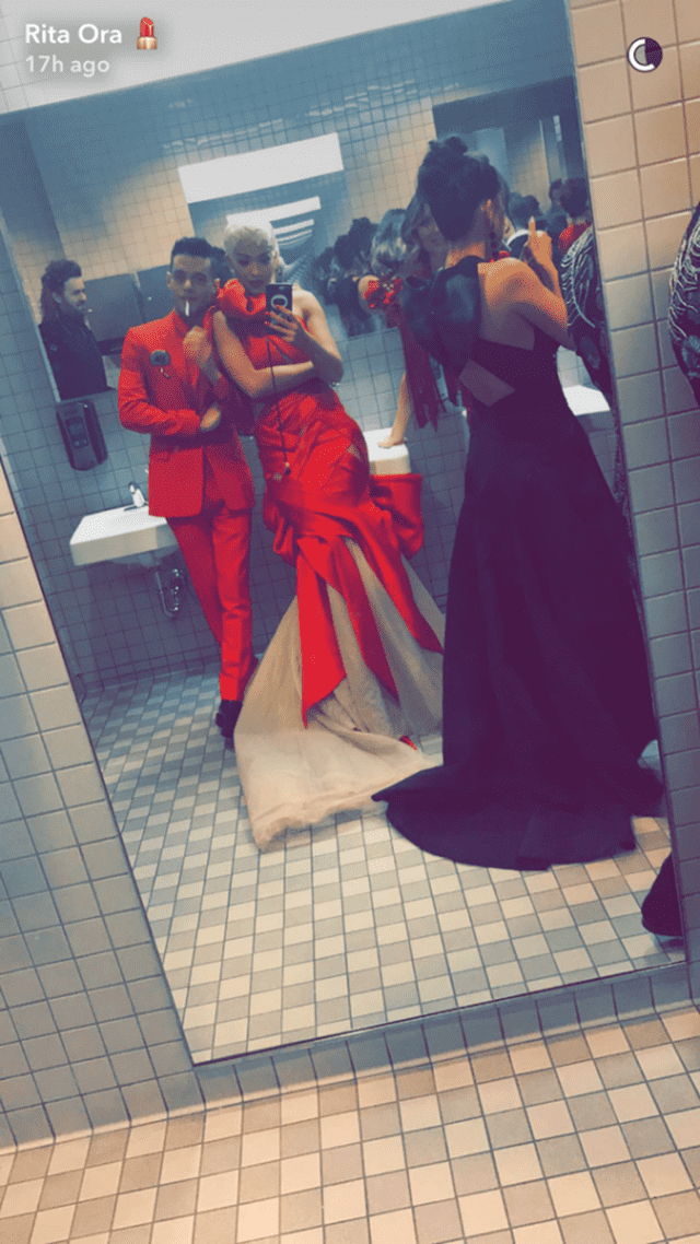 Rami Malek i Rita Ora (foto: Instagram/ritaora)