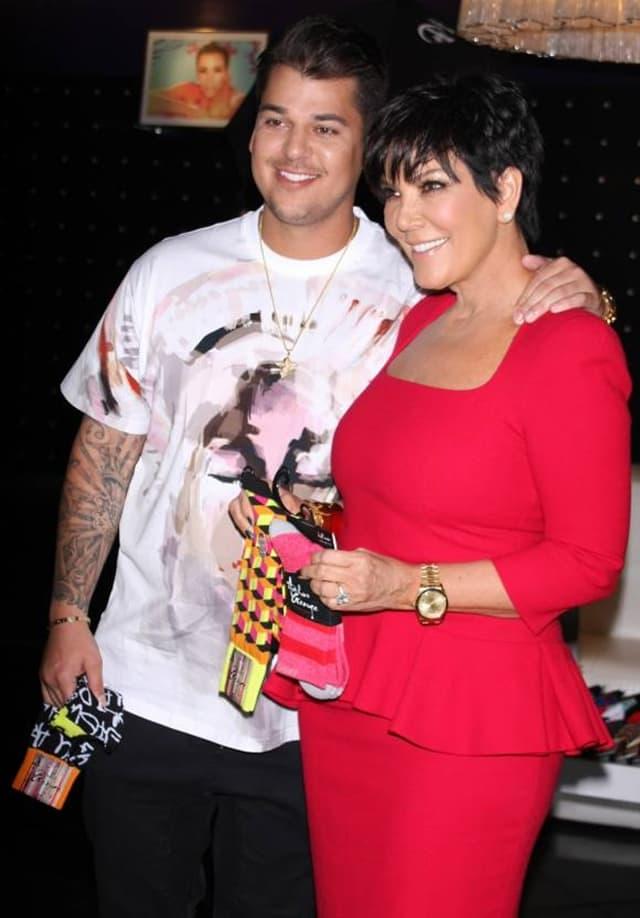 Rob Kardashian i Kris Jenner (foto: Wenn)