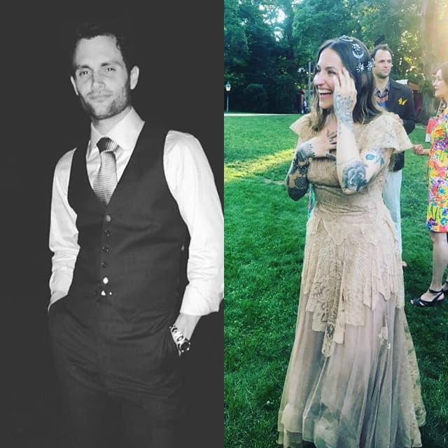 Mladoženja i mlada na venčanju (foto: Instagram/dominokirke/tarasummers)