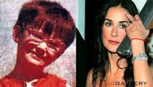 Demi Mur kao devojčica