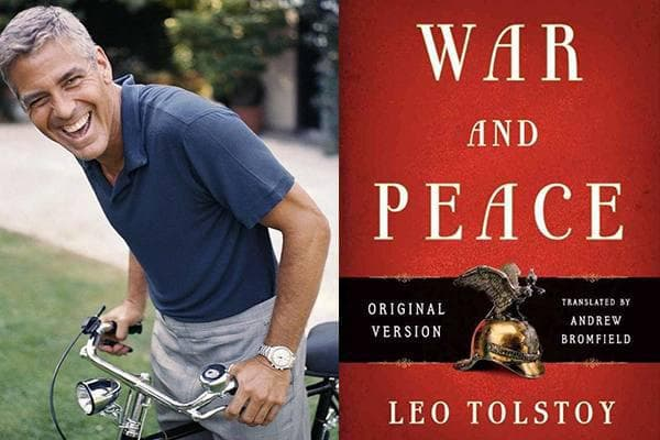 George Clooney -War and Peace , Leo Tolstoy