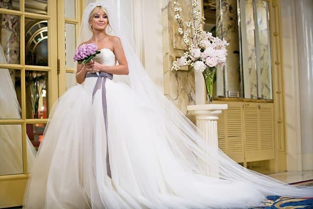 Kate Hudson u haljini Vere Wang u filmu Bridewars
