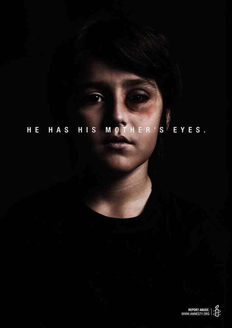 Ima iste oči kao mama. Prijavite nasilje.