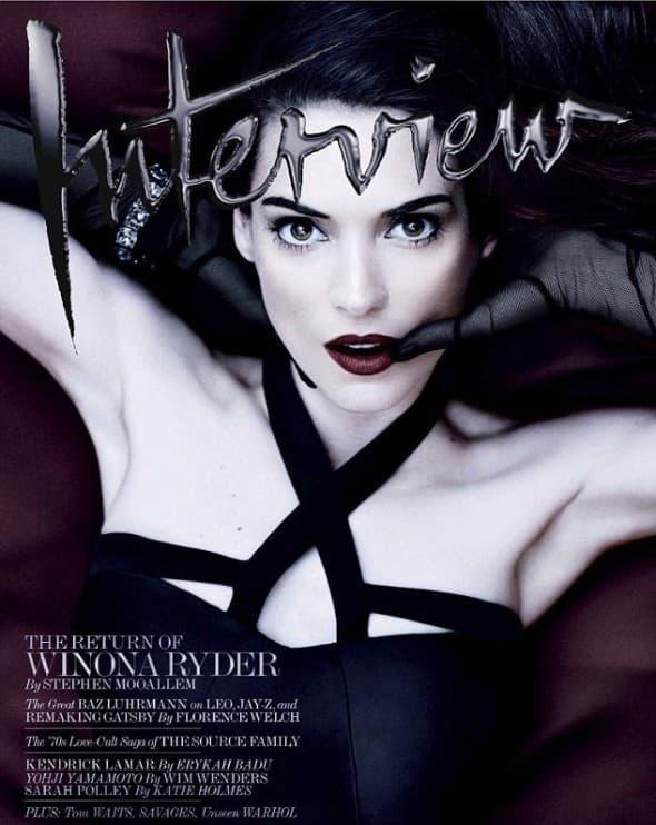 Winona na naslovnici majskog izdanja magazina 'Interview' (Foto: Interview)