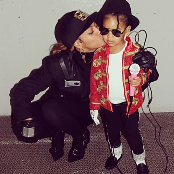 Beyonce i Blue Ivy kao Michael Jackson i Janet Jackson (foto: Instagram)