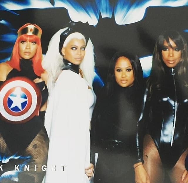 LaLa Anthony, Beyonce i Kelly Rowland u kostimima omiljenih super junaka  (foto: Instagram)
