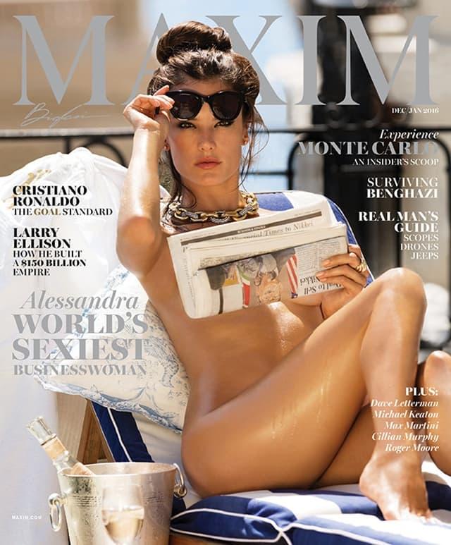 Naslovna strana novogodišnjeg broja muškog časopisa (foto: Maxim)