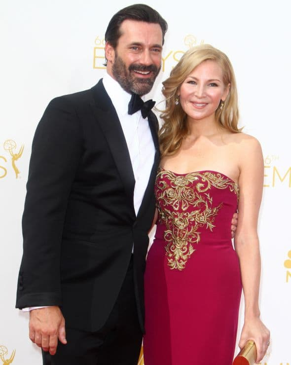 66th Primetime Emmy Awards at Nokia Theatre L.A. Live - Arrivals Featuring: Jon Hamm,Jennifer Westfeldt Where: Los Angeles, California, United States When: 25 Aug 2014 Credit: FayesVision/WENN.com