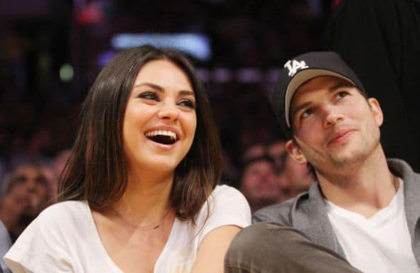 Celebrities watch the LA Lakers vs. Phoenix Suns at the Staples Center Featuring: Mila Kunis,Ashton Kutcher Where: Los Angeles, California, United States When: 12 Feb 2013 Credit: WENN.com