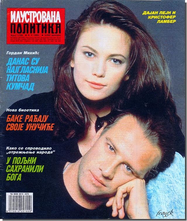 Diane i Christopher na naslovnici naše 'Ilustrovane politike' 1993. godine