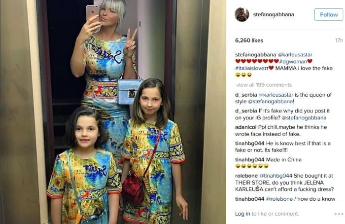 Dizajner je podelio fotogrfiju uz komentar da je garderoba fejk (foto: Instagram)