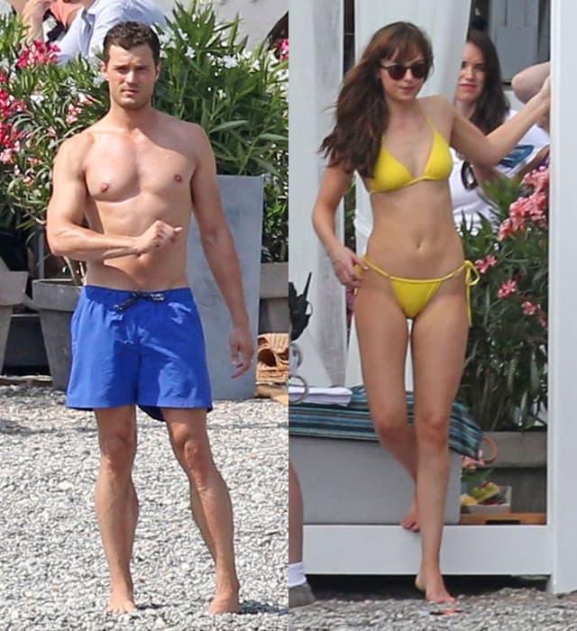 Dakota i Jamie na plaži u Nici snimaju treći nastavak trilogije (foto: AKM-GSI)