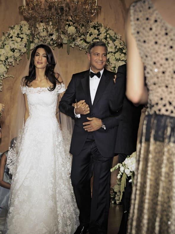 George i Amal Clooney (foto: Hello)